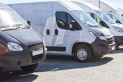 minibuses and vans outside Royalty Free Stock Photos