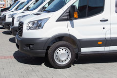 minibuses and vans outside Stock Photography