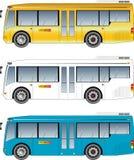 Minibusvektor Royaltyfria Bilder