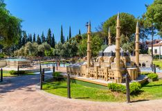 Free Minicity Park In Antalya, Turkey. Scale Model Of Selimiye Mosque Royalty Free Stock Photos - 151715338