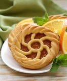 Minidesserttaartjes met sinaasappel Stock Fotografie