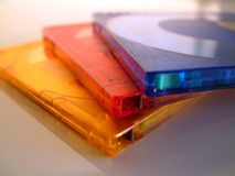 Minidiscos Fotos de archivo
