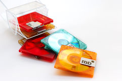 Minidisque photographie stock libre de droits