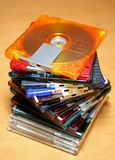 Minidisque coloré Photographie stock