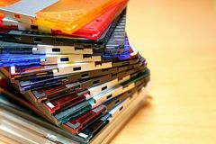 Minidisquete colorida Fotos de Stock