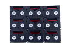 MiniDV卡式磁带 库存照片