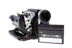 MiniDV camcorder. With a tape Royalty Free Stock Photos