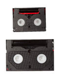 Minidv and hi8 tapes Stock Photo