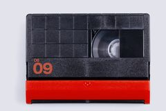 MiniDV tape for magnetic tape video cameras isolated. On white stock images
