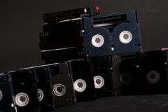 MiniDV tapes Royalty Free Stock Images