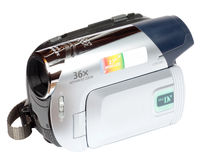 Minidv video camera camcorder Royalty Free Stock Photo