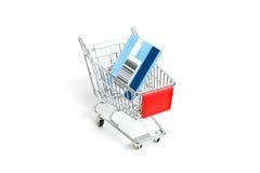 Minieinkaufenlaufkatze Lizenzfreie Stockfotos