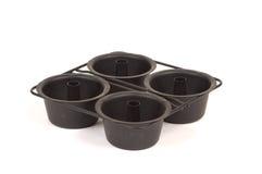 Miniengelsnahrungsmittelkuchenformen stockbilder