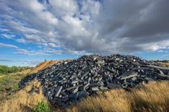 Miniera abbandonata dell'ardesia Fotografie Stock