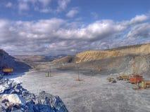 Miniera a cielo aperto Fotografia Stock Libera da Diritti