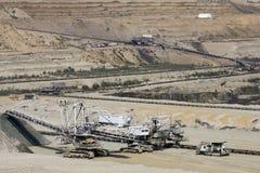Miniera a cielo aperto di carbone Fotografia Stock Libera da Diritti