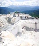 Miniera a cielo aperto di marmo Immagini Stock Libere da Diritti