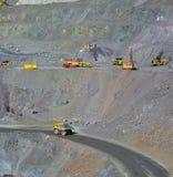 Miniera a cielo aperto di minerale di ferro Fotografia Stock Libera da Diritti
