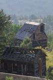 Miniera d'oro abbandonata anziana situata in Victor Colorado fotografia stock