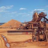 Miniera della bauxite immagini stock libere da diritti