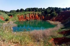 Miniera della bauxite di Otranto Immagini Stock Libere da Diritti