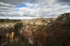Miniera della montagna del ferro Fotografie Stock