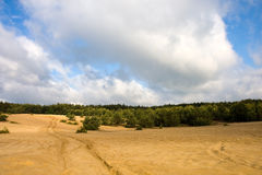 Miniera della sabbia in Polonia Immagini Stock Libere da Diritti
