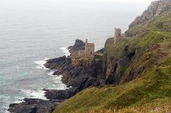 Miniera di Botallack e linea costiera, st appena, Cornovaglia immagine stock