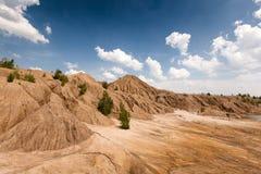 Miniera di carbone abbandonata nella regione di Tula, Russia Fotografia Stock Libera da Diritti