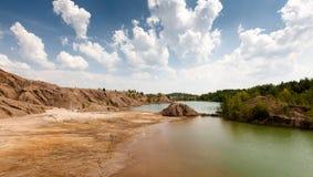 Miniera di carbone abbandonata nella regione di Tula, Russia Fotografie Stock Libere da Diritti