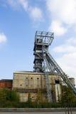 Miniera di carbone della torretta dell'asta cilindrica Fotografie Stock Libere da Diritti
