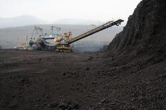 Miniera di carbone della trincea a cielo aperto Immagine Stock Libera da Diritti
