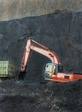 Miniera di carbone di funzionamento Fotografia Stock