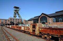 Miniera di carbone Zollern - treno della miniera Immagine Stock