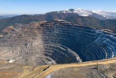 Miniera di Elacite - vista aerea Bulgaria immagini stock