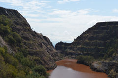 Miniera di ferro di Ngwenya Fotografia Stock Libera da Diritti