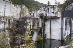Miniera di marmo Fotografie Stock