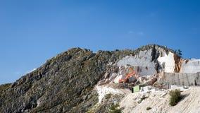 Miniera di marmo a Carrara Italia Fotografie Stock Libere da Diritti