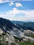 Miniera di marmo di Carrara Fotografia Stock
