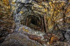Miniera di oro anziana fotografia stock libera da diritti