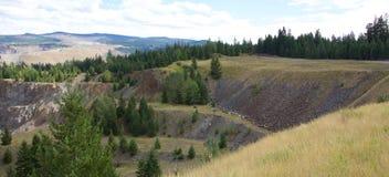 Miniera di rame della montagna Fotografia Stock