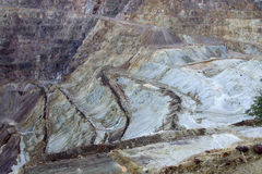 Miniera di rame di Bisbee Fotografia Stock Libera da Diritti
