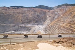 Miniera di rame di Kennecott, Utah Immagini Stock Libere da Diritti