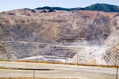 Miniera di rame di Kennecott, Utah immagine stock libera da diritti