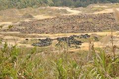 Miniera di rame di Mamut, Sabah, Malesia Fotografia Stock