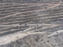 Miniera di rame nel Cile Fotografie Stock