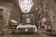 Miniera di sale di Wieliczka fotografia stock