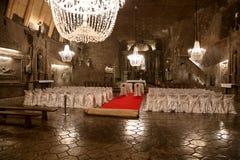 Miniera di sale di Wieliczka Cracovia fotografia stock