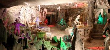 Miniera di sale di Wieliczka Cracovia immagini stock libere da diritti