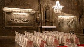 Miniera di sale di Wieliczka Cracovia fotografia stock libera da diritti
